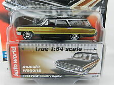 2017 AUTO WORLD 1:64 *PREMIUM 1B* BLACK 1964 Ford Country Squire Station Wagon