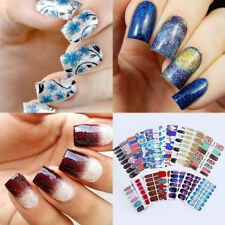 5 Sheets Nail Wraps Full Stickers Christmas Starry Sky Manicure Nail Art Sticker