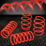 "FOR 15-18 FORD MUSTANG 1"" DROP FRONT+REAR SUSPENSION LOWERING COIL SPRINGS RED"