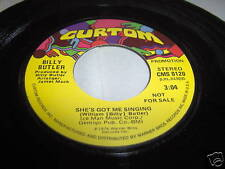 BILLY BUTLER-SHE'S GOT ME SINGING STEREO/MONO soul 45