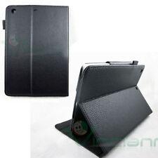 Pellicola+Custodia SLIM STAND per iPad mini 2 retina pelle Sleep Awake NERO case