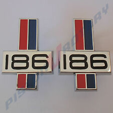 186 Guard Badges x2 (PAIR) New for HK HT HG Kingswood Premier Monaro GTS Holden