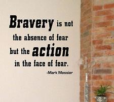 Hockey quote sticker, Mark Messier Bravery vinyl decal, celeb citation