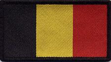Belgian Flag Belgium, Woven Badge, Patch 8cm x 4.5cm