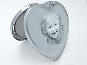 Compact Mirror, Photo Engraved Handbag Mirror Wedding, Christmas Gift