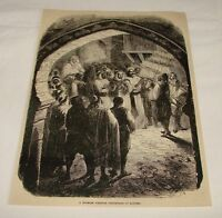 1876 magazine engraving ~ MOORISH WEDDING, Algiers