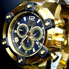 Invicta Reserve Grand Arsenal 63mm Swiss Movt Black MOP Gold Plated Watch New