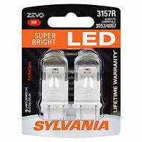 Sylvania Zevo 3157 Red LED Bright Interior Exterior Mini Light Bulb Set, 2 Pack