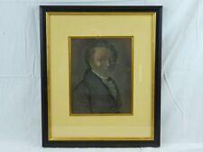 """(B12) Gouache hinter Glas """"Portrait eines Mannes"""" Biedermeier"""