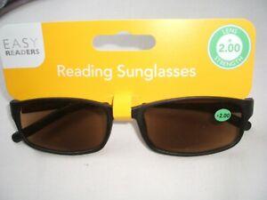 EASY READER SUN GLASSES WITH +2.00  LENS STRENGTH