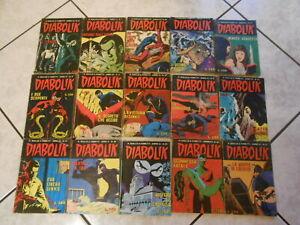 fumetto noir-DIABOLIK lotto 15 fumetti-x collezionisti non esigenti-anni 70