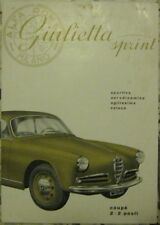 * Alfa Romeo Giulietta Sprint Catalogue Prospekt + supplements 1.1955