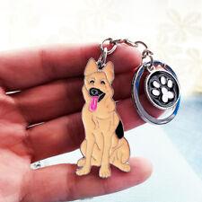 German Shepherd Keychain Dog Puppy Pet Keyring Key Chain Ring Fob Pendant