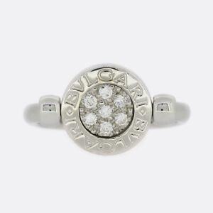 Bvlgari Bvlgari Diamond and Onyx Flip Ring 18ct White Gold