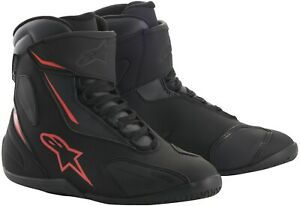 Alpinestars Fastback 2 Drystar Black White Yellow Red Motorcycle Shoes Resistant