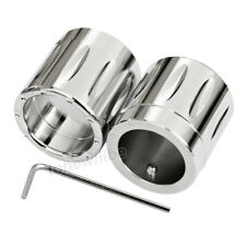 Chrome Edge Cut Front Axle Cap Nut Cover For Harley Touring Electra Glide Fatboy