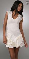 Oonagh Nanette Lepore Phillip Dress Jersey Stretch 100% Cotton, Ruffle Hem LARGE
