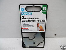 PACK OF 2 REPLACEMENT BLADES FOR PLASPLUGS GR215 GROUT REMOVER RAKE GRB215