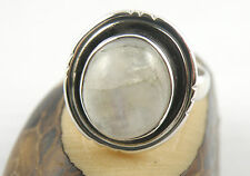 925 Sterling Silver Women Ring With Oval MOONSTONE Size 5.75