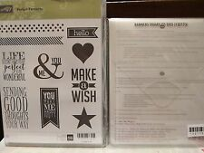 Stampin Up Perfect Pennants Clear Mount Stamp Set & Banners Framelits Dies