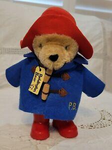 "2015 Paddington Bear 9"" Cute Plush Blue Coat Red Hat Rain Boots Stuffed Animal"