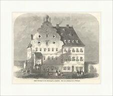 Tillys Sterbehaus in der Johannisgasse zu Ingolstadt Weininger Holzstich E 7515