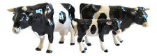 Porcelain Miniature Set 3, Black & White Cow Family Figurine