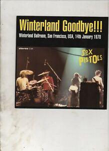 "SEX PISTOLS Winterland Goodbye 7"" w/PS PUNK ROCK Clear Vinyl"