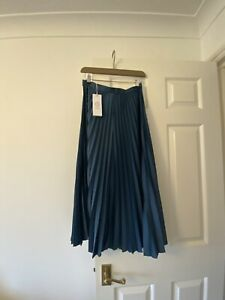 Silver Pleated Midi Skirt Size 8!