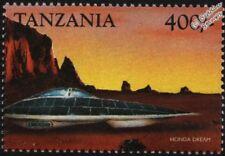 HONDA DREAM Solar-Powered Car Mint Automobile Stamp (1999 Tanzania)