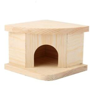 Natural Wooden Hamster Bed Cabin Small Animals Warm House Hamster