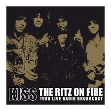 KISS THE RITZ ON FIRE 1988 LIVE RADIO BROADCAST DOPPIO VINILE LP 180 GRAMMI NERO