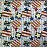 Vintage Patriotic Fabric Stars and Stripes 100% Cotton Fabric by the yard