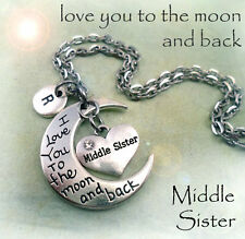 Middle Sister I Love You to the Moon and Back Necklace - Middle Sister Gift