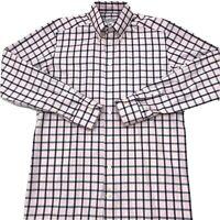 ETON Mens Dress Shirt Long Sleeve Pink Check Size Medium (40 - 15.75). C9