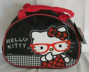 Kids Official Black Hello Kitty Shaped Character School Lunch Bag