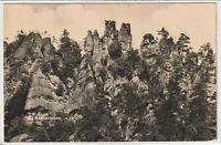 Ansichtskarte Kurort Jonsdorf - Zittauer Gebirge - Blick auf die Nonnenfelsen sw