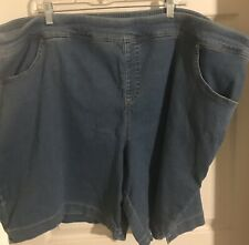 Terra & Sky Women's Plus 4X 24W 26W Short Mid rise shorts med Blue denim NWOT
