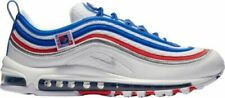 New Nike Men's Air Max 97 Running Shoes (921826-404) White/Game Royal-Met Silver