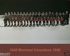 1948-49 MONTREAL CANADIENS NHL HOCKEY TEAM 8X10 PHOTO PICTURE #2