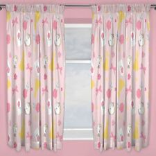 "DISNEY PRINCESS BEAUTY AND THE BEAST CURTAINS 66"" x 54"" BELLE BOWS ROSES GIRLS"