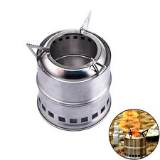 Stainless Steel Stove for Backpacking Camping Survival Outdoor Firewood Stove