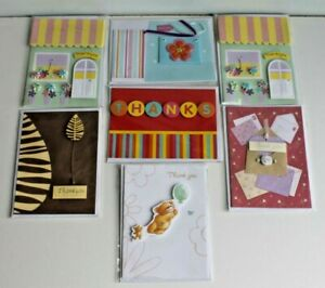 Selection of 7 Lovely Thanks / Thank You Greetings Cards Envelopes New & Sealed