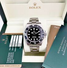 Rolex Ceramic Submariner No Date Stainless Steel Watch 114060 Box and Papers