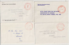 TASMANIA 1971/86: 4 small commercial covers with different PAID postmarks in red