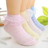 Baby Girls Toddler Cotton Lace Ruffle Princess Mesh Socks Kids Ankle Sock _TI