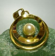 Colgante Pequeño Oro 333/8 K. Oro Colgante con perlas