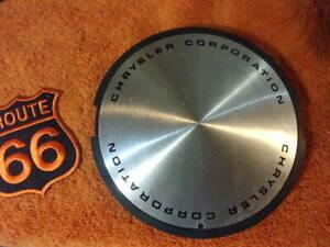x1 Chrysler Corporation Stainless Film Wheel Center Cap Part # 4284254 # 67522