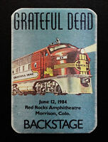 Grateful Dead Backstage Pass Santa Fe Train Red Rocks Colorado 6/12/84 6/12/1984