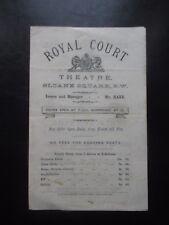ROYAL COURT THEATRE A NINE DAYS WONDER VINTAGE PROGRAMME